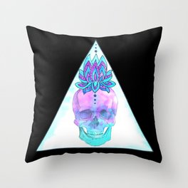 Sahasrara skull Throw Pillow