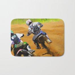 Motocross Dirt Racers Bath Mat
