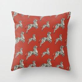African red zebras Throw Pillow