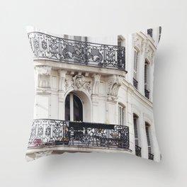 Montmartre Boho - Paris France Travel Photography Throw Pillow