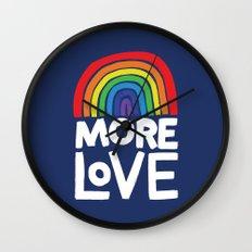 more love Wall Clock