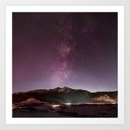 Milky Way Landscape Art Print