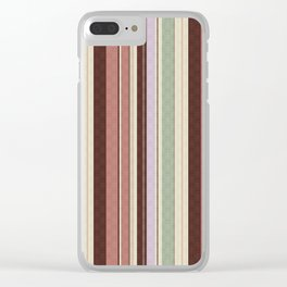 vertical stripes. Clear iPhone Case