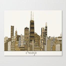 chicago vintage Canvas Print