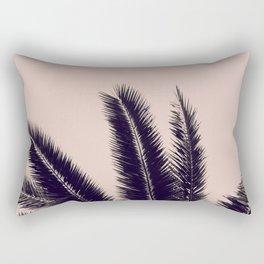 PALM TREE ROSE BLACK Rectangular Pillow