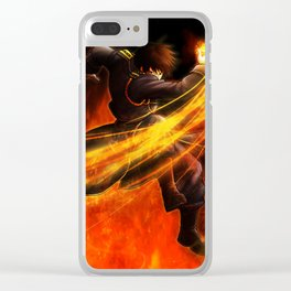 Roy Mustang Clear iPhone Case