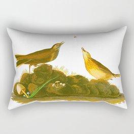 Brown Lark Bird Rectangular Pillow