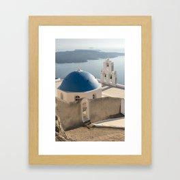 Firostefani Church, Santorini Framed Art Print