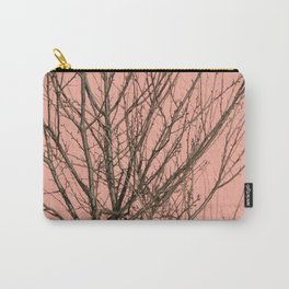 Bare tree against a pink wall Carry-All Pouch