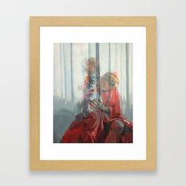 Holy Family (Red Riding Hood) Framed Art Print