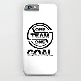 One Team One Goal bw iPhone Case