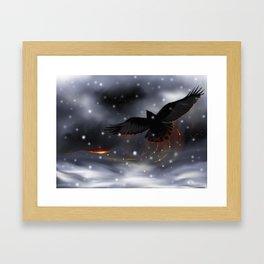 Raven Solstice Framed Art Print