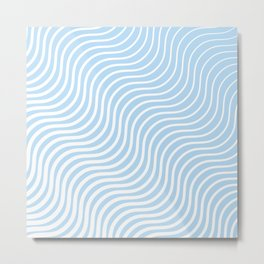 Whisker Pattern - Light Blue & White #285 Metal Print