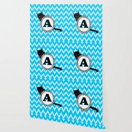 Letter A Cat Monogram Wallpaper