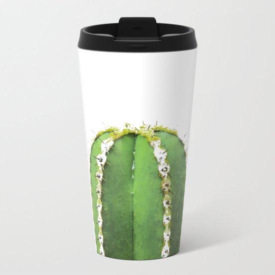 Simple Cactus Metal Travel Mug