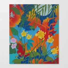 Notte Nel Giardino Canvas Print