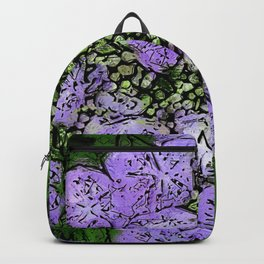 Purple Hydrangea Stylized Abstract Backpack