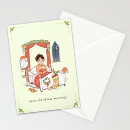 Accio Christmas Morning! Stationery Cards