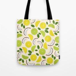 Lime Lemon Coconut Mint pattern Tote Bag