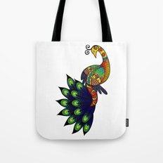 Coy peacock Tote Bag