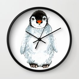 Molly the baby penguin Wall Clock