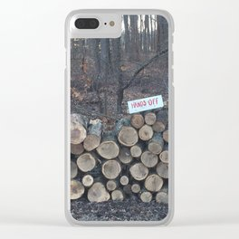 Hands Off Clear iPhone Case