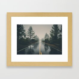 Hiking road explore Framed Art Print