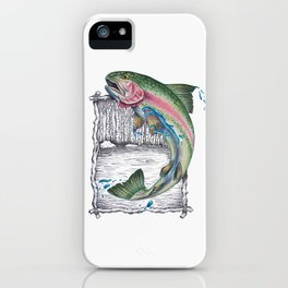 Trout Fishing in the Sierra Nevada's iPhone Case