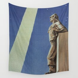 Trieste art deco Italian travel ad Wall Tapestry