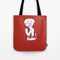 eat Tote Bags featuring EAT by Creating is Breathing