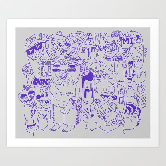 Funny Guys Art Print