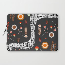 Acorns, flowers and a dotted river Laptop Sleeve