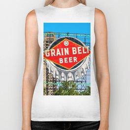 Grain Belt Beer Sign Biker Tank