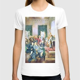 Howard Chandler Christy - Scene at the Signing of the Constitution of the United States - Digital Remastered Edition T-shirt