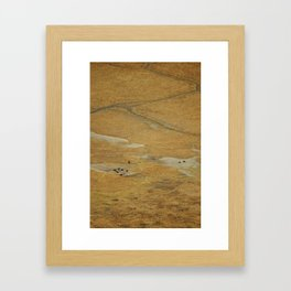 Ngorongoro crater floor Framed Art Print