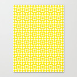 Moroccan Tiles Yellow Canvas Print