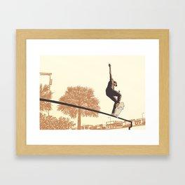 SKATER CROOKED Framed Art Print