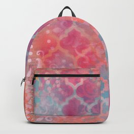 Layered Patterns - Pink, Coral & Turquoise Backpack