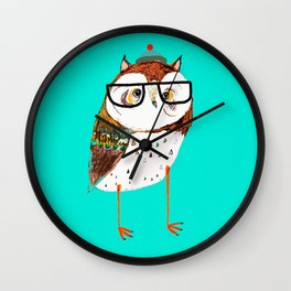 Cool Owl by Ashley Percival. Wall Clock