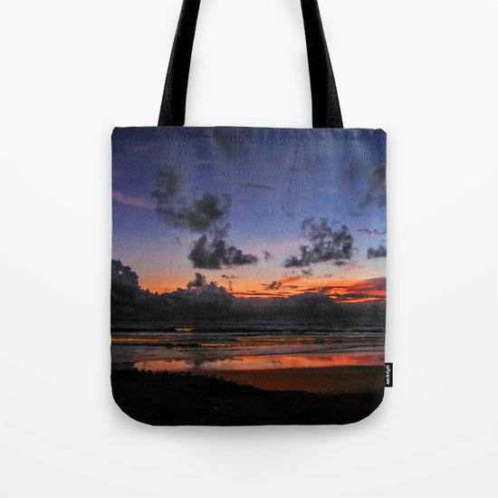 Beach Sunset - Painted Effect Tote Bag