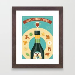 Fernet Branca the Miracle Elixir Framed Art Print