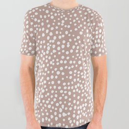 Little wild cheetah spots animal print neutral home trend warm dusty rose coral All Over Graphic Tee