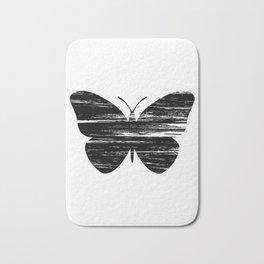 Buterfly Silouetthe Bath Mat