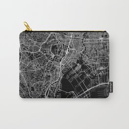 Tokyo Black Map Carry-All Pouch