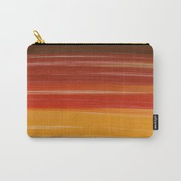 Abstract brown orange yellow sunset brushstrokes Carry-All Pouch
