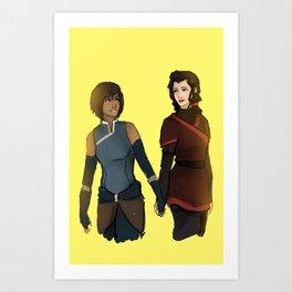 Korra and Asami Art Print