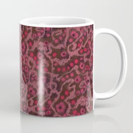 Pink Flowers, Blush Curves, fiber art Coffee Mug
