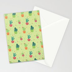 Cactus Party Pattern Stationery Cards