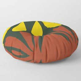 Yellow black and red Floor Pillow
