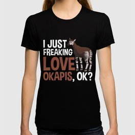 Okapi lover Quote Kids Zoo Forest Giraffe Fan T-shirt